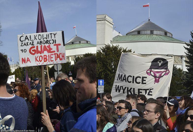 Tysiące osób protestowały pod Sejmem przeciwko ustawie antyaborcyjnej!