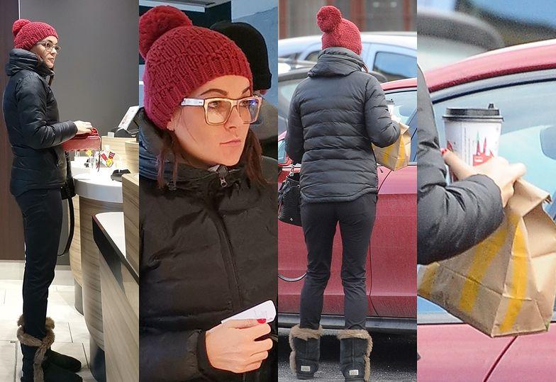 Aga Radwańska na obiedzie w restauracji McDonald's