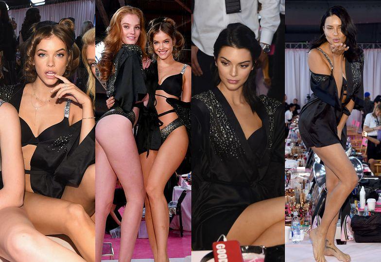 Aniołki Victoria's Secret prezentują swoje wdzięki i posyłają buziaczki w oczekiwaniu na pokaz