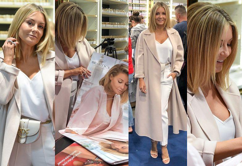 Pracowity weekend Małgorzaty Rozenek-Majdan: Z pokazu mody w Mediolanie prosto na targi kosmetyczne na Białołęce (ZDJĘCIA)