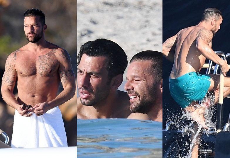 Ricky Martin z mężem i przyjaciółmi wygrzewają się na włoskim wybrzeżu