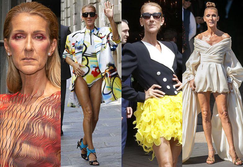 Celine Dion i jej paryskie stylizacje