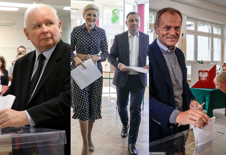 Wybory parlamentarne 2019: Donald Tusk, Jarosław Kaczyński, Andrzej Duda i inni politycy głosują (ZDJĘCIA)