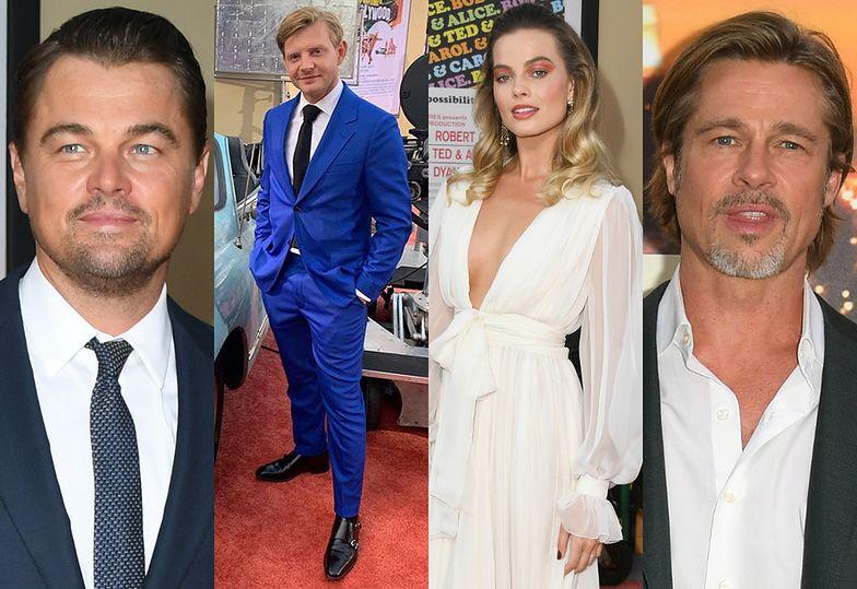 Leonardo DiCaprio, Rafał Zawierucha, Margot Robbie i Brad Pitt