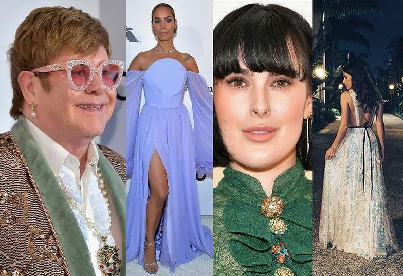 Gwiazdy na oscarowej imprezie Eltona Johna