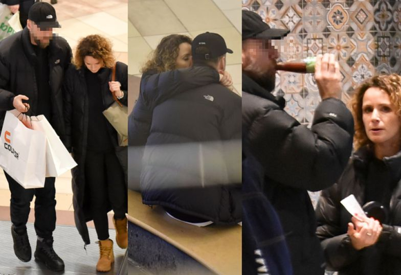 Mrozowska z tajemniczym mężczyzną robią zakupy w takich samych kurtkach