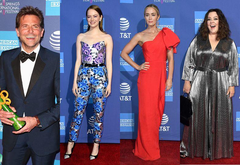 Tłum gwiazd na Festiwalu w Palm Springs: Emma Stone, Emily Blunt, Bradley Cooper, Melissa Mccarty...