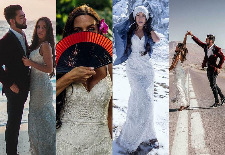 Młodzi małżonkowie robią sobie sesję ślubną w najodleglejszych zakątkach świata