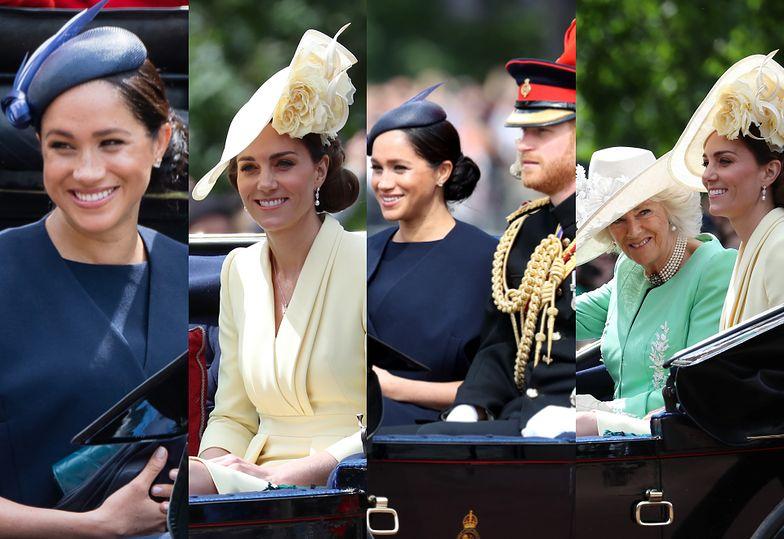 Pierwsze wyjście Meghan Markle po porodzie! Urodziny królowej Elżbiety świętowała z… księżną Kate