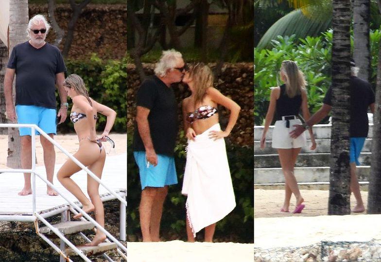 69-letni Flavio Briatore na egzotycznych wakacjach z 20-letnią partnerką