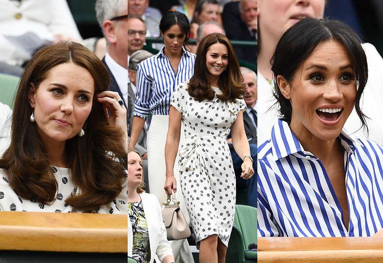 Przejęta Meghan Markle i zachowawcza Kate Middleton na meczu Sereny Williams