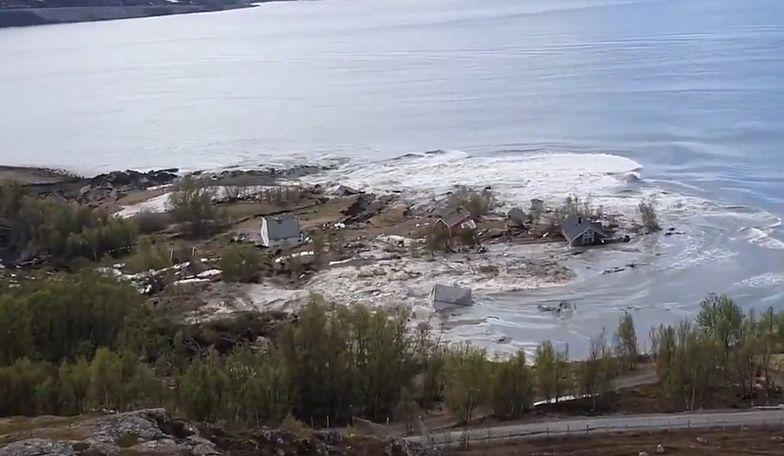 Norwegia. Osunął się ląd, osiem domów zniknęło pod wodą
