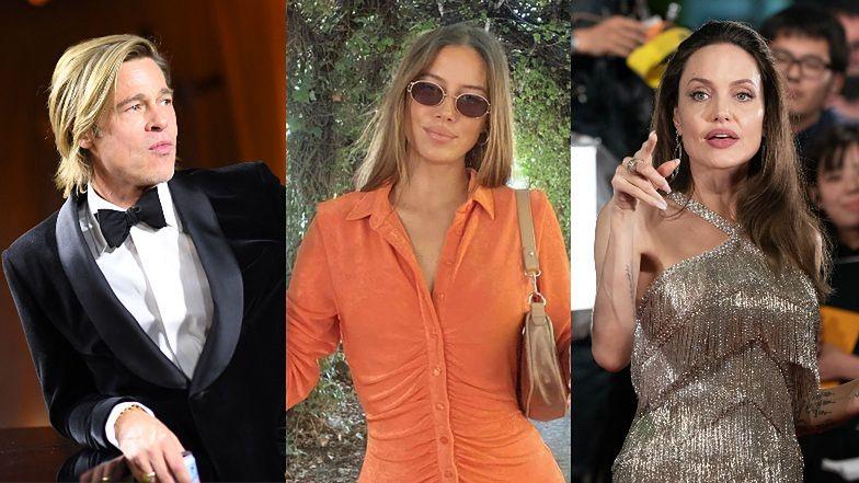 """Nowa dziewczyna Brada Pitta POUCZA Angelinę Jolie na Instagramie? """"Szczęśliwi ludzie NIE HEJTUJĄ"""" (FOTO)"""