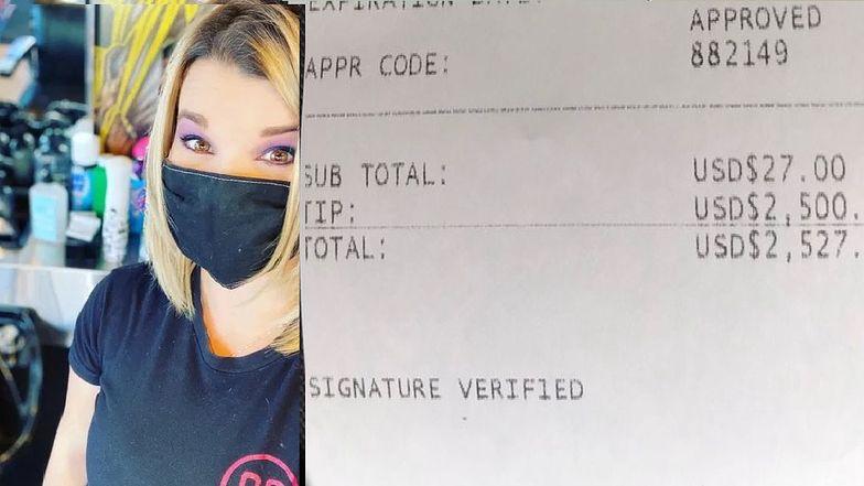 Ilisia Novotny dostała 2,5 tysiąca dolarów napiwku od tajemniczego klienta