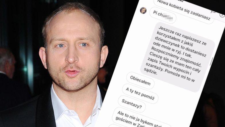 """Borys Szyc odpowiada na oskarżenia Sylwestra Latkowskiego: """"Mam ten cały zapis twoich WYPOCIN I SZANTAŻY"""""""