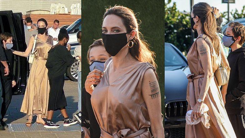 Angelina Jolie zabrała sześcioro swoich dzieci na sushi