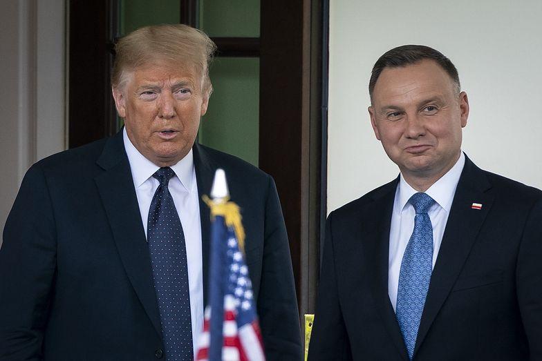 """Donald Trump pogratulował reelekcji """"przyjacielowi Andrzejowi Dudzie"""""""