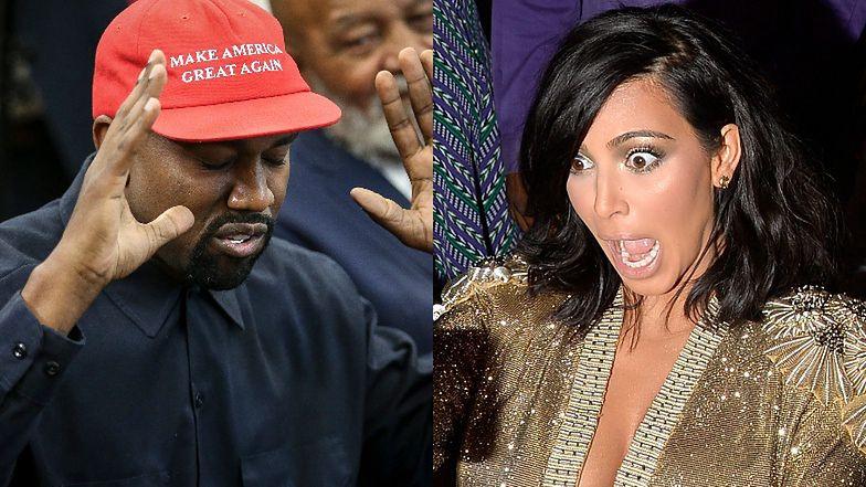 """Kim Kardashian """"JEST WŚCIEKŁA"""" na męża: """"Była w szoku, gdy usłyszała słowa Westa na wiecu"""""""