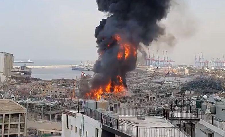 Dramat po pożarze w Bejrucie. W magazynie było coś jeszcze
