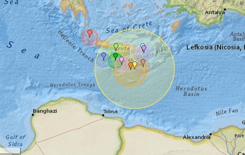 2 maja zarejestrowano trzęsienie ziemi o magnitudzie 6 w okolicach Krety.