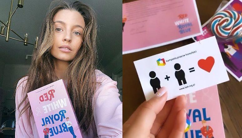 """Zaangażowana Julia Wieniawa promuje książkę o miłości LGBT: """"Może ta lektura będzie dla niektórych krokiem do ZMIANY NASTAWIENIA"""""""