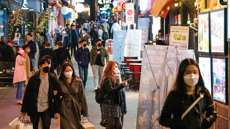 Ulice Seulu w czasie epidemii
