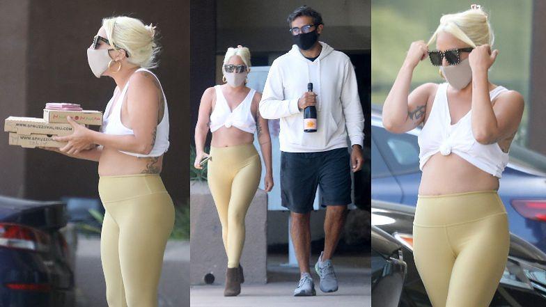 Wyzwolona Lady Gaga prezentuje nieco pełniejsze kształty w niewymuszonej stylizacji podczas zakupów z ukochanym (ZDJĘCIA)