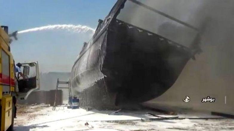 Tajemniczy pożar w Zatoce Perskiej. Ogień pochłonął siedem statków