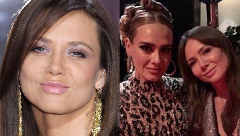 """Kinga Rusin ZNÓW tłumaczy się ze zdjęcia z Adele: """"Sama je wybrała spośród kilku zrobionych nam moim telefonem przez ZNAJOMEGO REŻYSERA"""""""