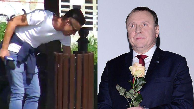 """Reporter lubelskiego TVP WYRZUCAŁ ŚMIECI Z KOSZA, żeby nakręcić materiał o """"zaniedbanym"""" Placu Lecha Kaczyńskiego! (WIDEO)"""