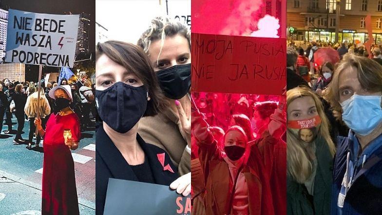 Gwiazdy protestują na ulicach Warszawy przeciwko decyzji TK ws. aborcji