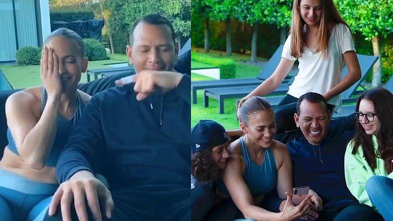 """""""Wyluzowana"""" Jennifer Lopez nagrywa TikToki z młodszym o sześć lat ukochanym. Słodko? (WIDEO)"""