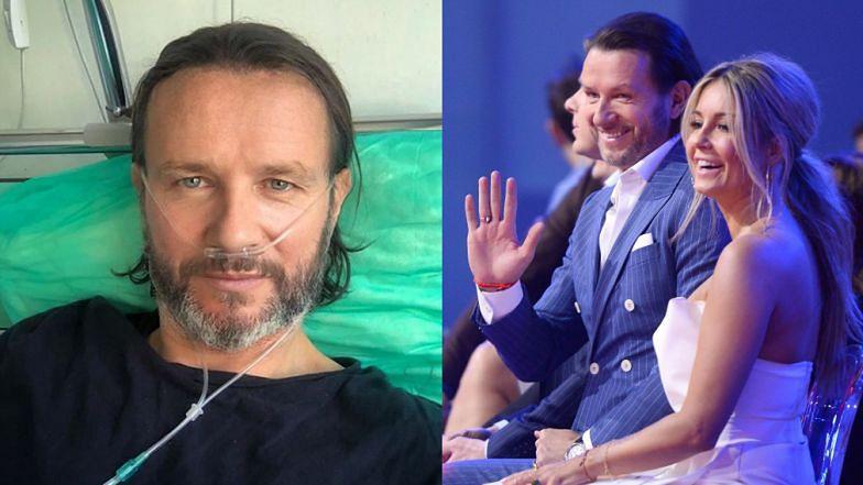 Chory na COVID-19 Radosław Majdan pokazał zdjęcie ze szpitala