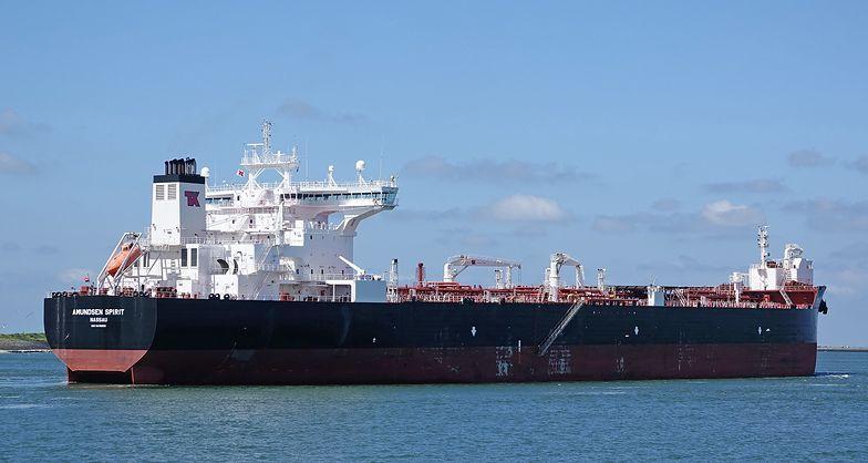 Amundsen Spirit to tankowiec pływający pod banderą z Bahama