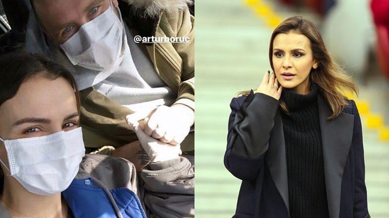 """Przezorni Sara i Artur Borucowie uzupełniają zapasy w maseczkach ochronnych: """"Sprzęt do zakupów w dzisiejszych czasach"""" (FOTO)"""