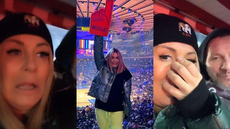 """Spanikowana Małgorzata Rozenek przeżywa HORROR, wracając z meczu NBA... rikszą. """"Co ten facet robi? K*rwa, ON NAS ZABIJE!"""""""