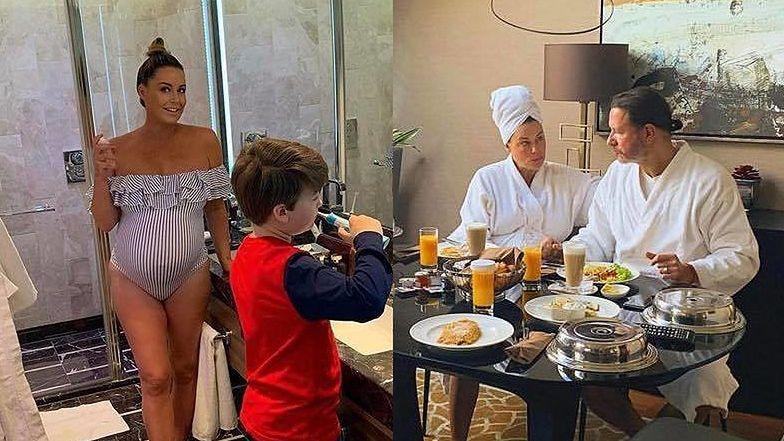 """Oczekująca na poród Małgorzata Rozenek cieszy się """"OSTATNIMI spokojnymi chwilami"""" w luksusowym hotelu (ZDJĘCIA)"""