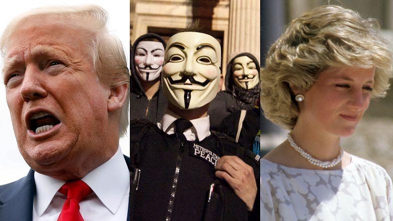 Hakerzy z Anonymous oskarżają Donalda Trumpa o PEDOFILIĘ, a rodzinę królewską o ZAMORDOWANIE księżnej Diany!