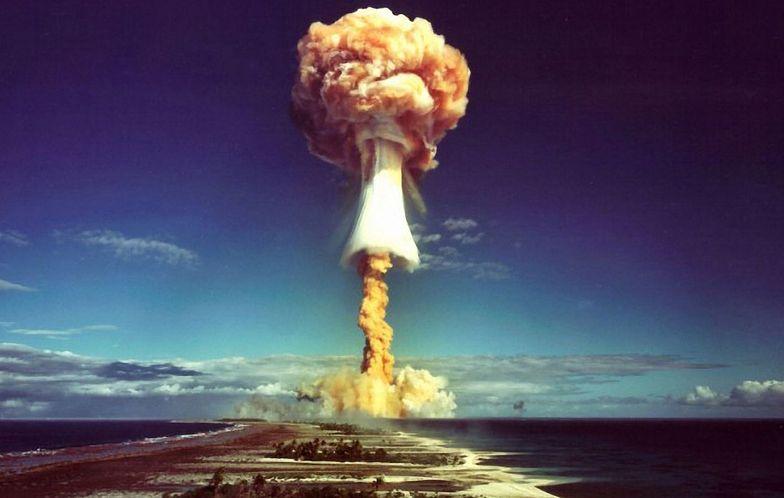 Na zdjęciu wybuch bomby jądrowej podczas przeprowadzony podczas testów broni w 1971 roku.