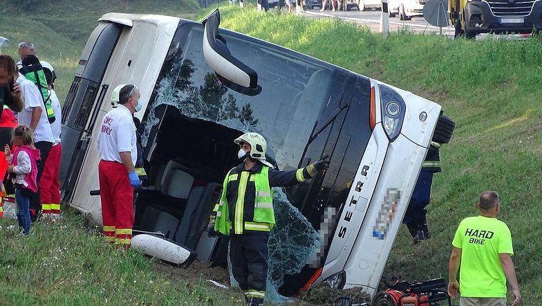 Węgry. Wypadek autokaru z Polakami
