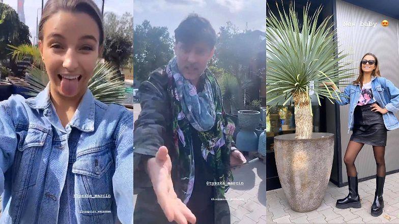 """Zaaferowani Julia Wieniawa i Marcin Tyszka robią zakupy w sklepie botanicznym: """"Musi być z*jebisty ogród, a nie jakieś TUJE"""" (ZDJĘCIA)"""