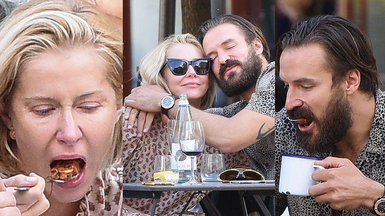Miłość Katarzyny Warnke i Piotra Stramowskiego kwitnie w restauracji