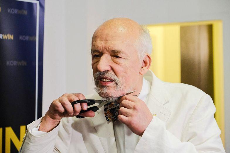 Koronawirus w Polsce. Janusz Korwin-Mikke zgolił brodę i... zakończył epidemię!