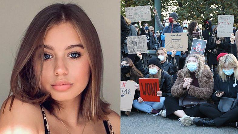 """18-letnia Oliwia Bieniuk tłumaczy, o co walczą Polki: """"Żeby kobieta SAMA decydowała o swoim ciele, zdrowiu i życiu"""""""