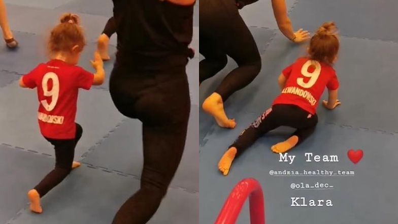 """Utalentowana Klara Lewandowska zachwyca sportową formą na obozie ByAnn. """"Dumna!"""" (FOTO)"""