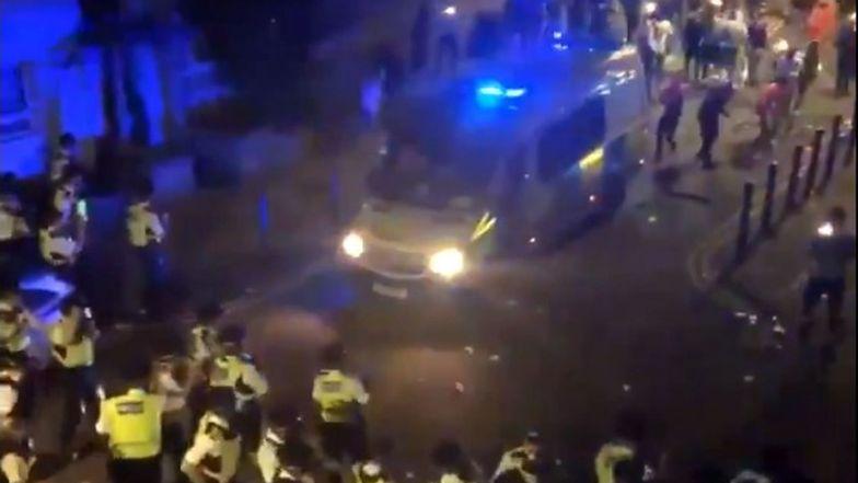 Brutalne zamieszki na ulicach Londynu. Kilkunastu policjantów rannych