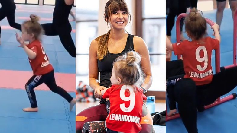 """Anna Lewandowska rozpływa się nad córką: """"Duma Klary jest tym większa, kiedy widzi, że ciocie i wujkowie ćwiczą razem z nią"""""""