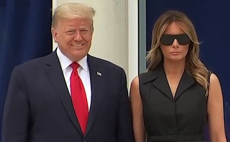 Donald Trump poprosił żonę o uśmiech. Nagrali reakcję Melanii. Jest hitem sieci