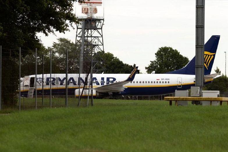 Awaryjne lądowanie samolotu Ryanair z Krakowa. Dwie osoby aresztowane