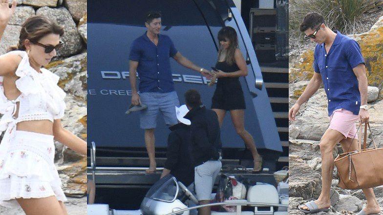 Eleganccy Anna i Robert Lewandowscy wypoczywają na jachcie w Sardynii